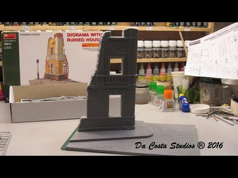 MINIART DIORAMA WITH RUINED HOUSE - PART 1 - Let´s start build on Live Streaming