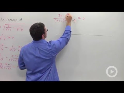 Finding the domain of a function - Problem 4