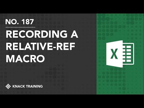 Recording Macros with Relative References in Microsoft Excel | Everyday Office 077