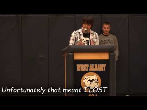 The Greatest Highschool Presidential Speech Ever - Subtitled [HD] Daniel Thompson