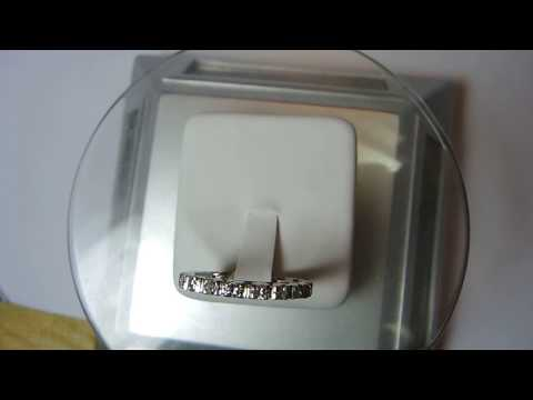 Antique Vintage Diamond Wedding Eternity Band Platinum Ring Size 6.75 UK-N EGL USA