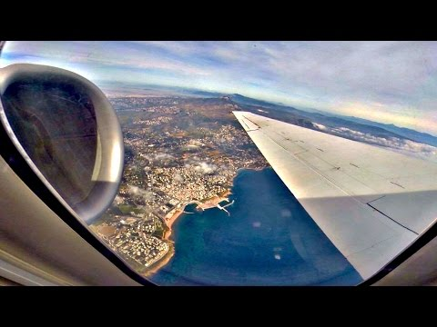 Volotea Boeing 717 - Full Flight Athens-Santorini - Amazing SOUND - GoPro Wing/Engine View