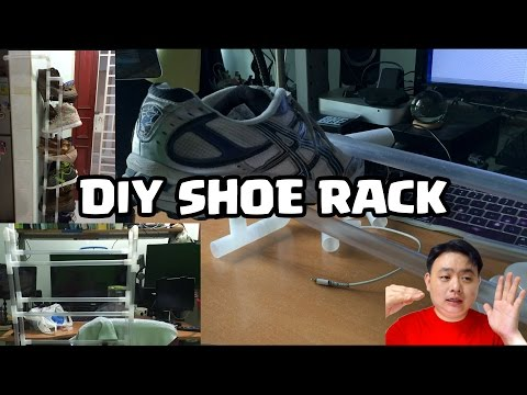 AWESOME DIY PVC Shoe Rack