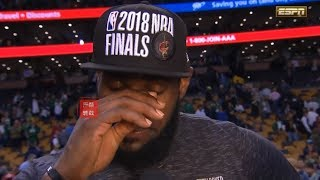 Lebron James Emotional Interview After Game 7: I Left Everything I Had On The Floor!