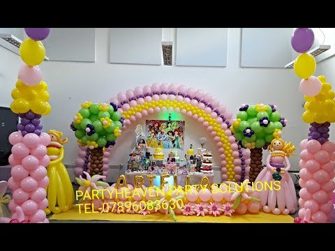 How to do a Balloon Arch  (Large Flat Arch)