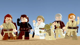 LEGO Star Wars The Force Awakens All Jedi Characters Dancing