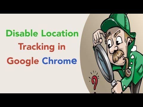How to disable location tracking in Google Chrome