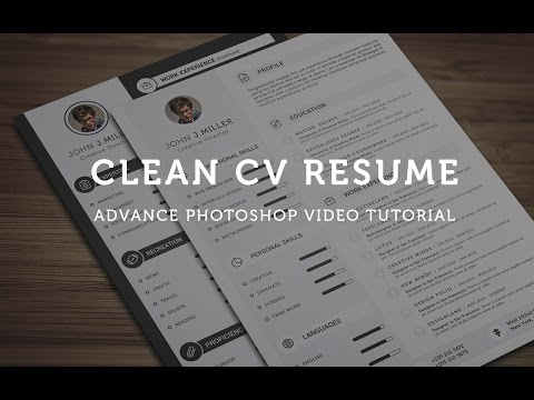 Clean CV Resume - Photoshop Tutorial