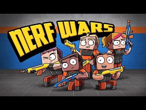 Minecraft - NERF WAR CHALLENGE! (Nerf Guns Mod)