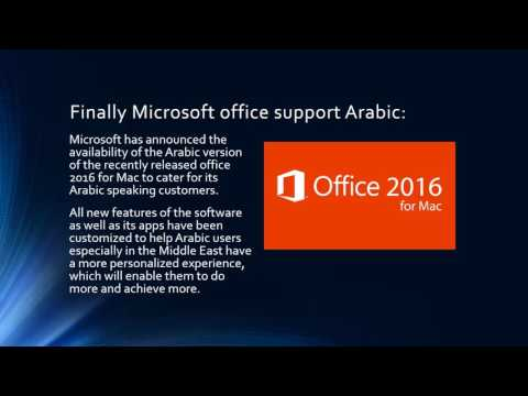 Office 2016 for Mac supports Arabic