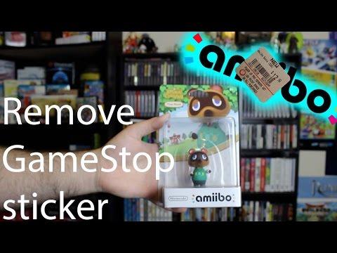 Removing The GameStop Sticker from Amiibo box