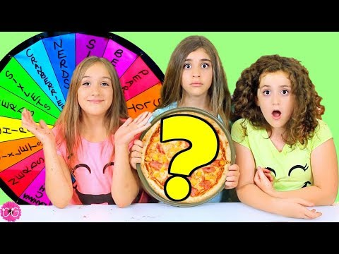 MYSTERY WHEEL OF DESSERT PIZZA CHALLENGE!!