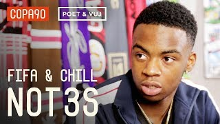Not3s Reveals Which Arsenal Player Would Drop The Best Bars | FIFA and Chill ft. Poet and Vuj