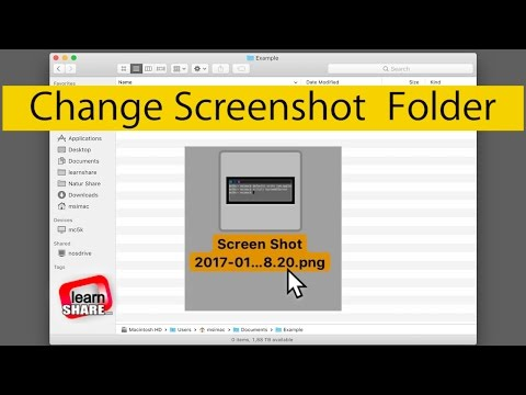 How to Change Screenshots Save Folder Location on MacOS (Screen Capture, Print Screen)