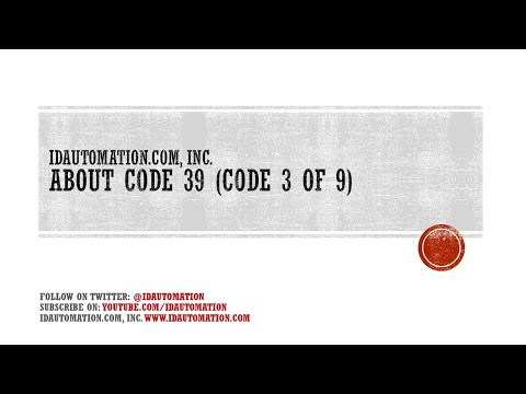 How to create a Code 39 Barcode