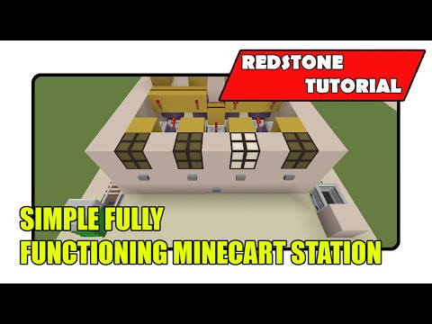 Simple Minecart Station [Fully Functioning] (Minecraft Xbox TU24/CU12/PlayStation CL1.16)