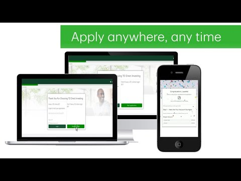 Easily Apply for a TD Direct Investing Account