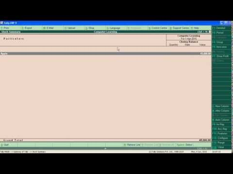 Use Optional Vouchers in Tally ERP 9 In hindi