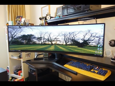 Samsung CJ89 (LC49J890DKU) review - 49in Super Ultrawide Monitor - By TotallydubbedHD
