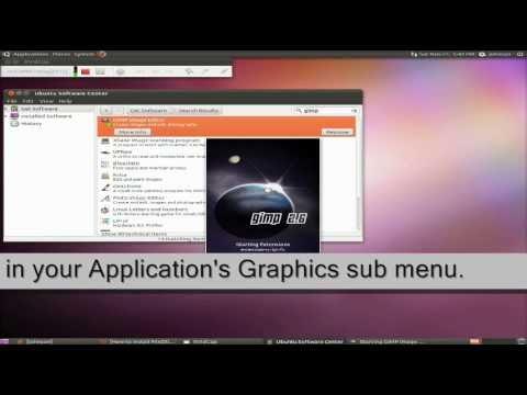 Install Gimp Image Editor with Ubuntu 10.10 Software Center