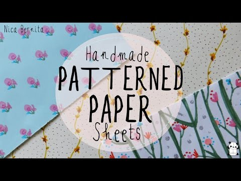 Make your own decorative paper. Handmade patterned paper sheets