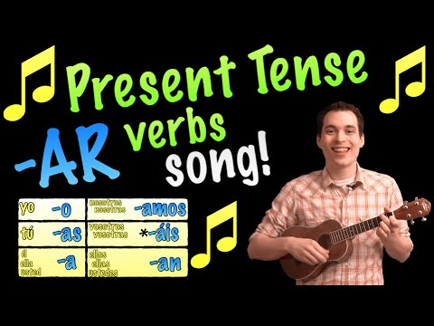 Present Tense -AR Verbs Made Easy with a Song in Spanish!