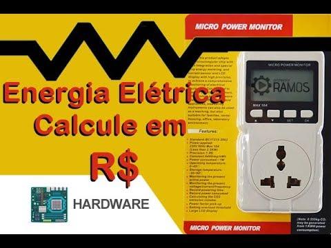 ⚠️Como calcular o consumo elétrico em R$ 💰 Wattímetro | Micro Power Monitor