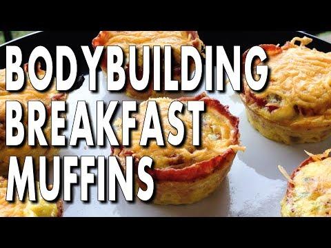 EASY BODYBUILDING BACON & EGG BREAKFAST MUFFINS
