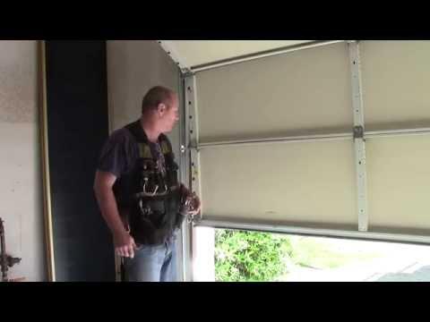 Garage door cable came off