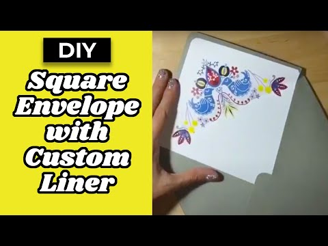 DIY Tutorial: Create a square envelope with custom liner inside