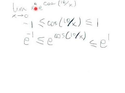Squeeze Theorem example with e^f(x)