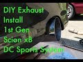 Scion xB DIY Axle back DC Sports Exhaust Install