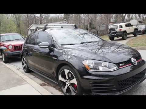 Installing a roof rack on a MK7 GTI