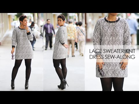 Lace Sweater Knit Dress Sew-Along