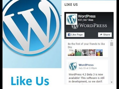 How to Add Facebook Page Plugin in WordPress website (2017)