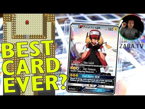 BEST POKEMON CARD EVER! Epic Custom Pokemon Cards Feat. Red's Pikachu
