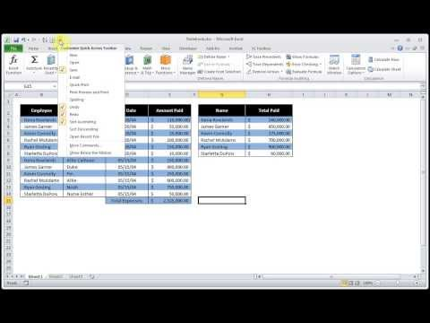 How to How to Customize The Quick Access Toolbar In Microsoft Excel 2010