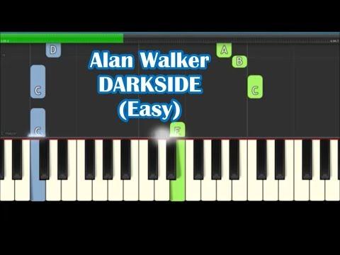 Alan Walker, Tomine Harket, Au Ra - Darkside Easy Piano Tutorial