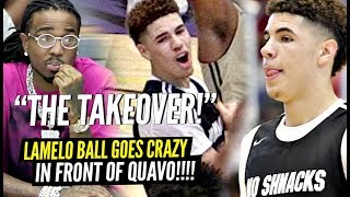 LaMelo Ball Goes ABSOLUTELY CRAZY w/ QUAVO Watchng! TAKES OVER FOR 24 POINT COMEBACK!!