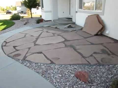 Installing a flagstone patio How to install a flagstone patio Part 1