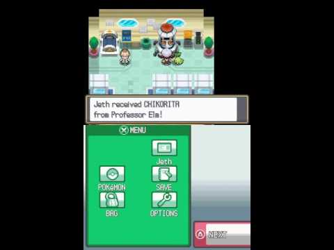 Pokemon HeartGold Starter Hack