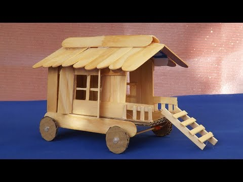 Miniature Gypsy Caravan | Popsicle Stick Crafts