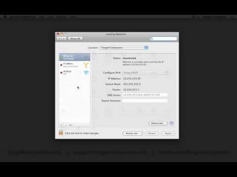 Mac OS X - Find Local IP Address