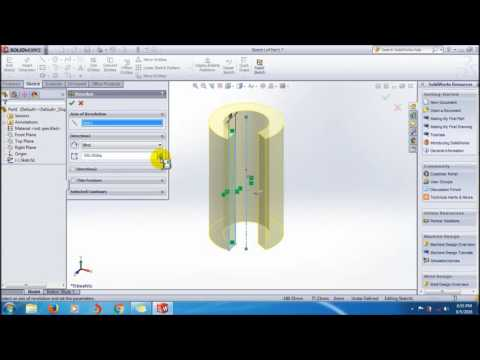 Learn SolidWorks Revolved Boss/Base Feature Tutorial_SolidWorks Video Tutorials