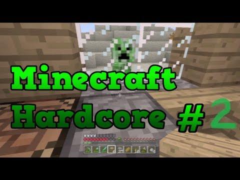 Minecraft Xbox Hardcore #2 - Enchanting and Making Obsidian