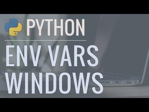Python Quick Tip: Hiding Passwords and Secret Keys in Environment Variables (Windows)
