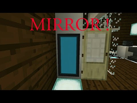 HOW TO MAKE A MIRROR IN MINECRAFT PE ! (Banner tricks)