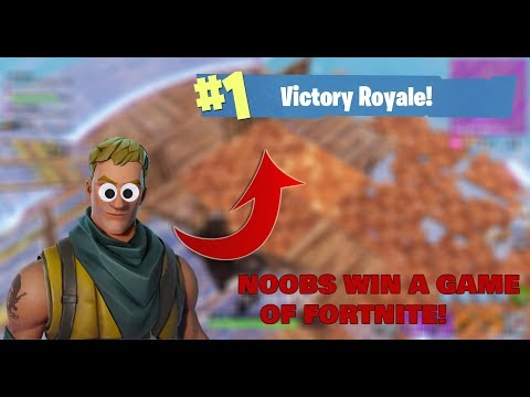 2 NOOBS *WIN* THEIR FIRST GAME OF FORTNITE