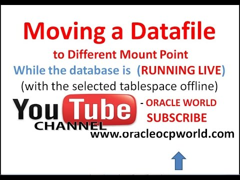 Moving datafile to different Mount Point while the database is Running Live