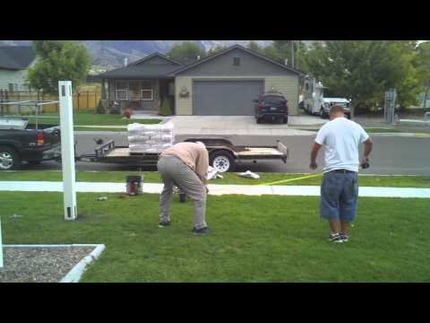 HOW TO INSTALL A VINYL  FENCE (part 1)